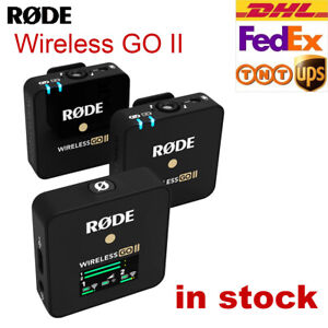 New Rode Wireless Go II Dual Microphone Wireless System On-Board Recording