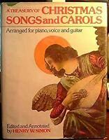 Treasury of Christmas Songs and Carols Hardcover Henry A. Simon
