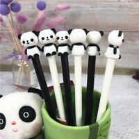 2Pcs Cute Cartoon Panda Gel Pens Kawaii Stationery 0.5mm Black Needle Gel Pens J
