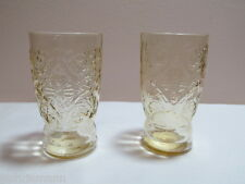 Amber Depression Glass Madrid Two Juice Glasses HTF