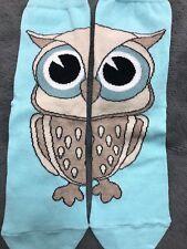LADIES BROWN OWL BLUE SOCKS BN