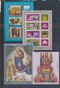 XC89548 Mongolia mixed thematics sheets XXL MNH