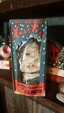 New ListingVtg Wee Winking Christmas Tree Japan w Box Lid White tree