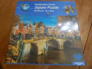 *PUZZLE WORLD: Amsterdam Canal - 500 Piece Jigsaw Puzzle* NEW AND SEALED
