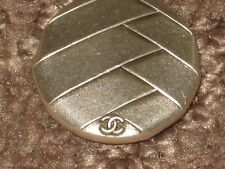 CHANEL 1 SILVER METAL CC LOGO BUTTON 24 MM/ OVER  1''  NEW RARE