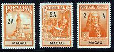 MACAO MACAU 1925 Marquis de Pombal Commemoration Set SG 329 to SG 331 MINT
