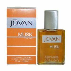 JOVAN MUSK * Coty 4.0 oz / 118 ml After Shave Men Cologne Splash