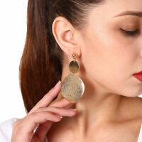 Women Fashion Luxury Round Earrings Crystal Geometric Hoop Earrings Jewelry Gift