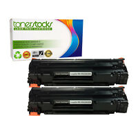 2 Cb436a Toner Hp Cartridge 36a Laserjet Black P1505 Genuine New P1505n M1522nf