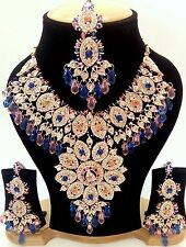 Indian Traditional Ethnic antique Kundan Multi Color Set Necklace and Earrings