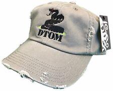DTOM Don't Tread on Me Tea Party Hat Cap Distressed 2nd Amendment Olive Drab