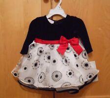 Bonnie Baby 6-9 Month 2 Piece Dress Black, White, Red NWT