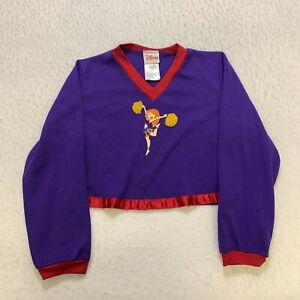 Vintage Disney Kim Possible Long Sleeve Shirt Girls Size L Purple Cheerleader