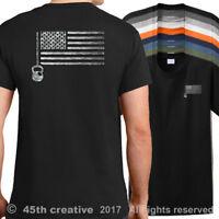 USA Crossfit Flag T-Shirt american gym training shirt crossfit wod trainer shirt