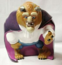 """HTF Disney Beauty and the Beast """"The Beast"""" 7-8"""" Coin Piggy Bank PVC w/stopper"""