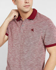 NWT EXPRESS MEN Textured Small Lion Pique Polo VERY BERRY SIZE:M