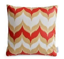 DEFECTIVE - WATERPROOF Red Beige OUTDOOR Cushion Cover Geometric Patio Pillow