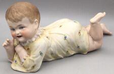 19th Century German Porcelain Piano Baby. Approx:10.5� Long, Repair To Leg (C236