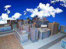 More details for t gauge 1:450 model railway city buildings pack  33 buildings