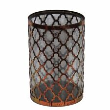 Striking Metal/Glass Candle Holder, Copper