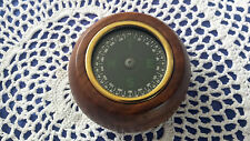 NEW ANTIQUE STYLED METAL & WOOD PAPERWEIGHT FLOATING COMPASS