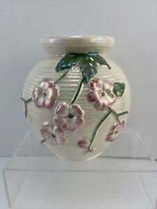 Vintage MALING Cherry Blossom Pearl Lustre VASE. England.