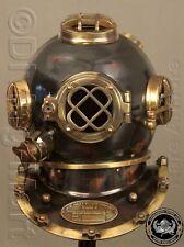 """Antiguo Casco De Buceo Scuba 18"""" EE. UU. Navy Vintage réplica de casco para buzos Mark V"""