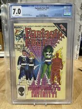 cgc graded 7 fantastic four 282 marvel comics 9/85 white pages