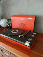 Continental Edison tourne disque vintage orange platine vinyles 45 / 33 tours