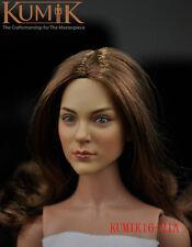 "1/6 Scale Female Head Sculpt KUMIK 16-21A For 12"" Hot Sideshow Toys TTL HT Body"