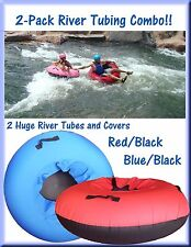 2-Pack Huge River Tube and Cover Combos with Deluxe Maintenance Kit