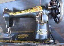 VTG MERRITT SEWING machine TM of Globe SINGER COMPANY 15ND88 GOLD decor MOTIF