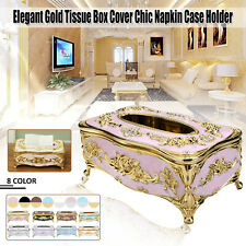 Elegant Gold Silver Tissue Paper Napkin Box Storage Container Cover Case Holder