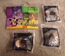 2005 Disney Celebration McDonalds Happy Meal Toys - lot of 3 plus box