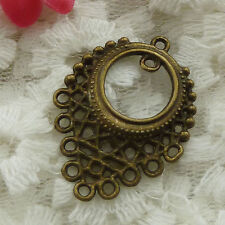 Free Ship 30 pieces bronze plated earring connector 33x24mm #1138