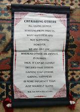 Tibetan Canvas Dalai Lama Sayings Wall Hanging - Cherishing Others - NEW