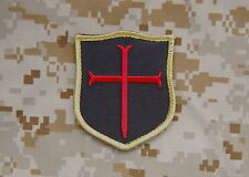 Crusader Shield Patch Black & Red NSWDG DEVGRU Gold Squadron Team ST6 Navy SEAL