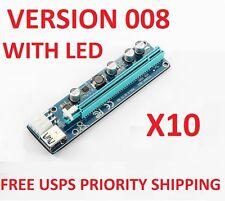 10X PCI-E Express 1X to 16X 60cm USB Riser Adapter w/ SATA VERSION 008