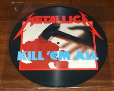 METALLICA ~ KILL 'EM ALL ~ UK 10-TRACK LP PICTURE DISC W/ ORIGINAL PVC SLEEVE