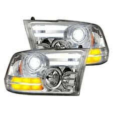 Recon 264276CLC Chrome DRL Bar Projector Headlights for 14-17 Ram 1500 & More