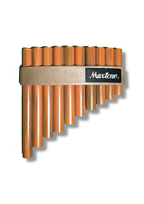 Plastic wood effect Panpipes Pipes Flute Blown musical instrument gift toy
