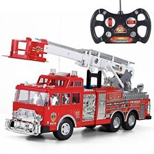 "New 20"" Jumbo R/C Rescue Fire Engine Truck Remote Control Toy with Ladder"