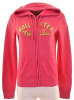 HOLLISTER Womens Hoodie Sweater Size 14 Medium Pink Cotton  NK16