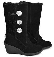 Wedge Sheepskin Boots for Women