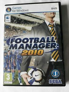 Football manager 2010 PC game by SEGA complete FREE SHIPPING