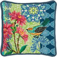 Dimensions Needlepoint Kit - Blue Floral