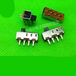 10Pcs Panel PCB 4 Pin 3 Position SP3T Slide Switch 0.5A 50V DC SS13F11G5