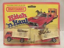 1982 Matchbox Hitch 'n Haul Cattle Truck Trailer Twin Pack England B
