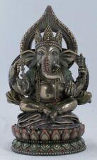 Buddha Ganesha auf Lotusthron Feng Shui Ganesh Elefantengott Figur