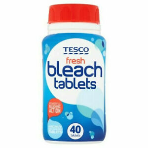 40 Powerful Bleach Chlorine Cleaning Solution Disinfectant Easy-to-use Tablets